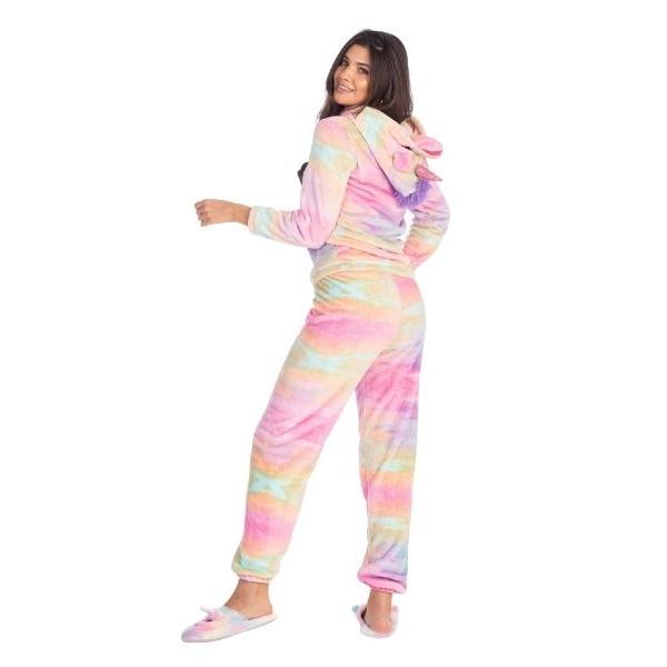 Piżama dwuczęściowa damska tęczowy Jednorożec