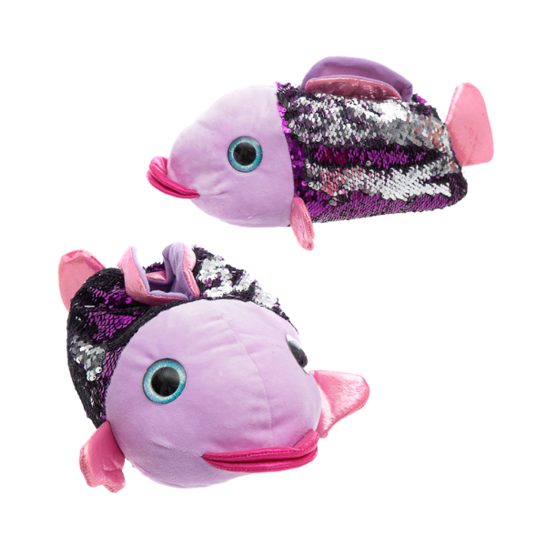 Kapcie damskie cekinowa Ryba
