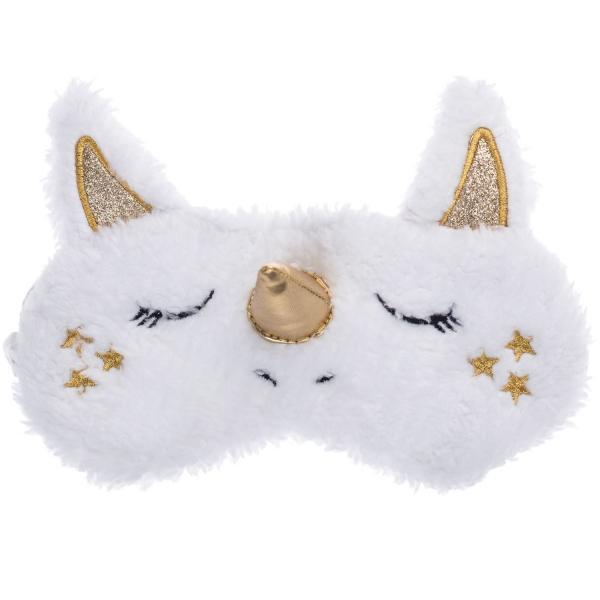 Maska do spania Biały Jednorożec