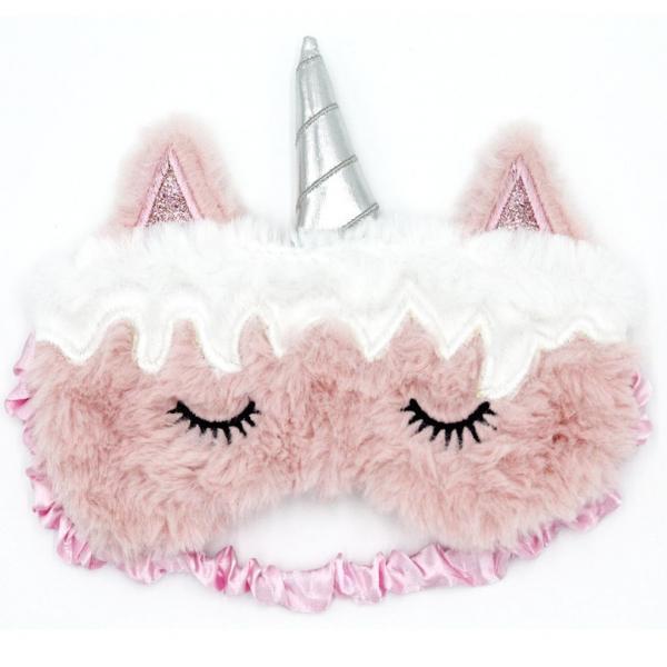 Maska do spania Różowy Jednorożec